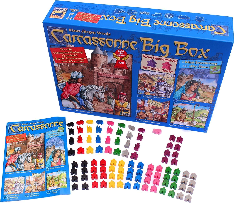 Carcassonne Big Box 2014 - Grundspiel mit Fluss & 4 Erweiterungen [Importación alemana]: Amazon.es: Juguetes y juegos