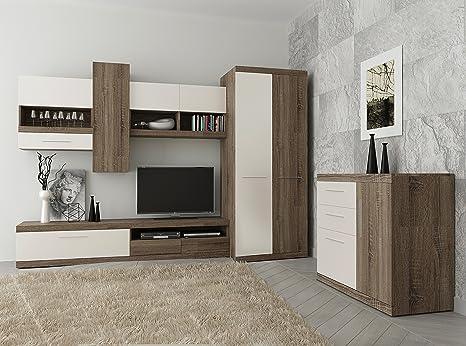 Tokio, set di mobili da soggiorno, armadio a 2 ante, mobile TV ...