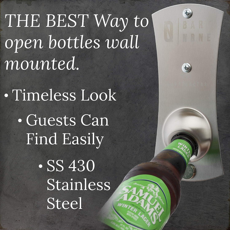 1 pc Beer Bottle Opener One-handed Fridge Magnet Party Favors for Bar Restaurant