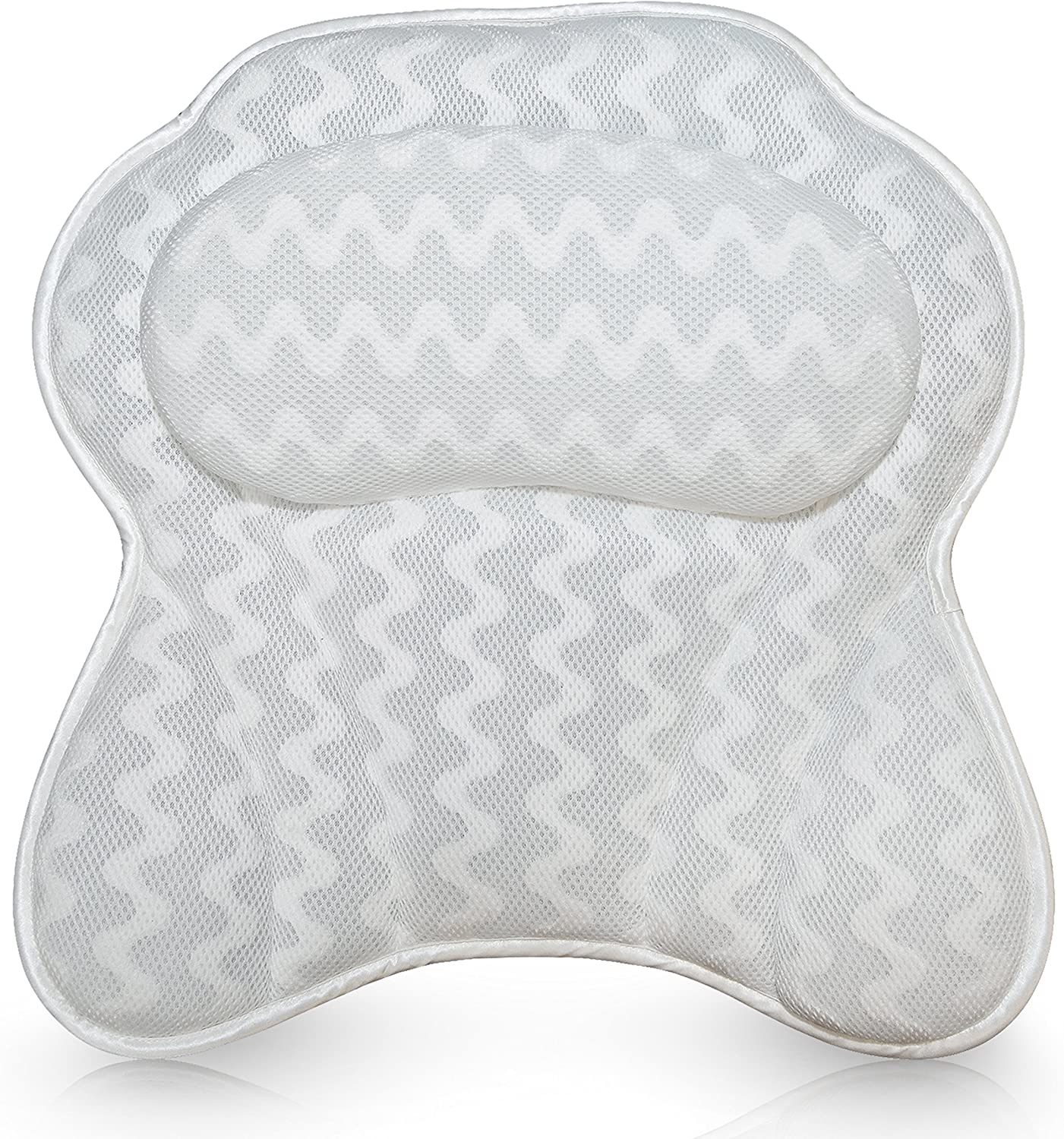 Ergonomic Bathtub Cushion for Neck Luxurious Bath Pillow for Women /& Men Head /& Shoulders Includes Wash Bag by Bath Haven with QuiltedAir Mesh for Breathable Comfort