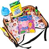 Toddler Activity Tray for Car Seat by Nytelse - Kids Travel Lap Tray - Reinforced Surface - Side Pockets - Waterproof Snack Play Learn Travel Tray for Children - Perfect Toys Organizer for Car