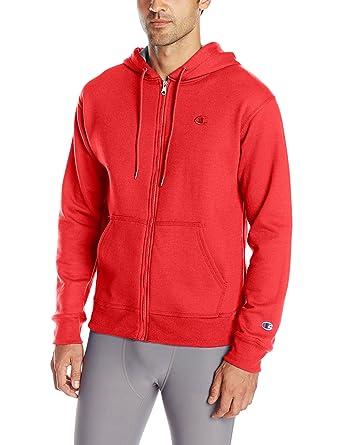 d5aeb2044a5c Amazon.com  Champion Men s Powerblend Fleece Full-Zip Hoodie  Clothing