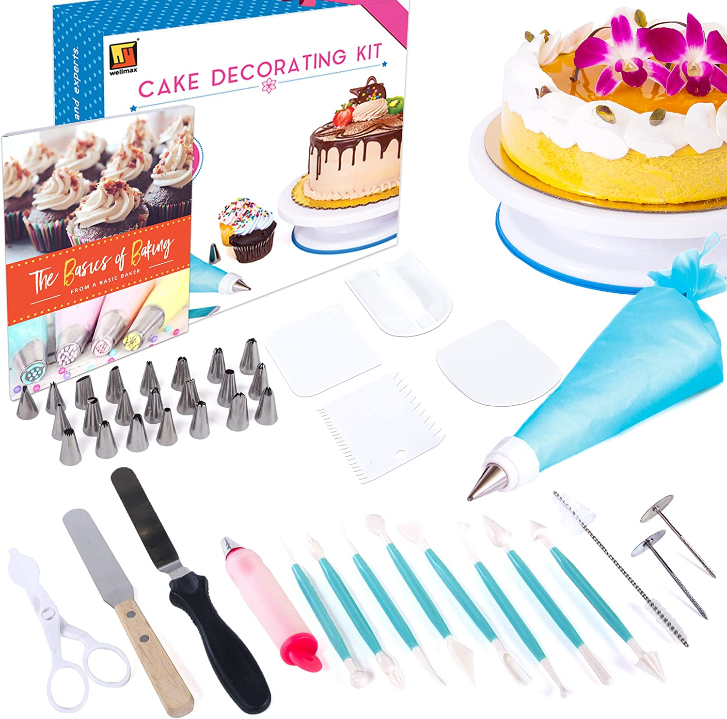 Cake Decorating Kit 159 Pcs Cupcake Decorating Supplies for Beginners Cookie Baking Supplies Cake Decorating and Tools 24 Russian Piping Tips