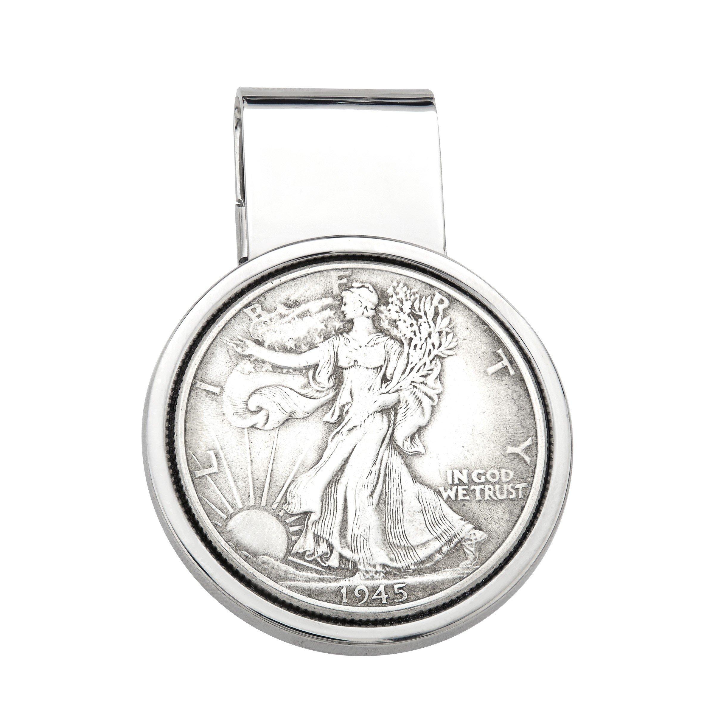 Dolan Bullock Walking Liberty Coin Money Clip in Sterling Silver