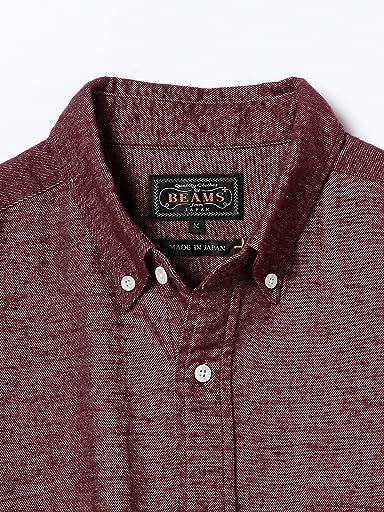Flannel Buttondown Shirt 11-11-0703-139: Burgundy