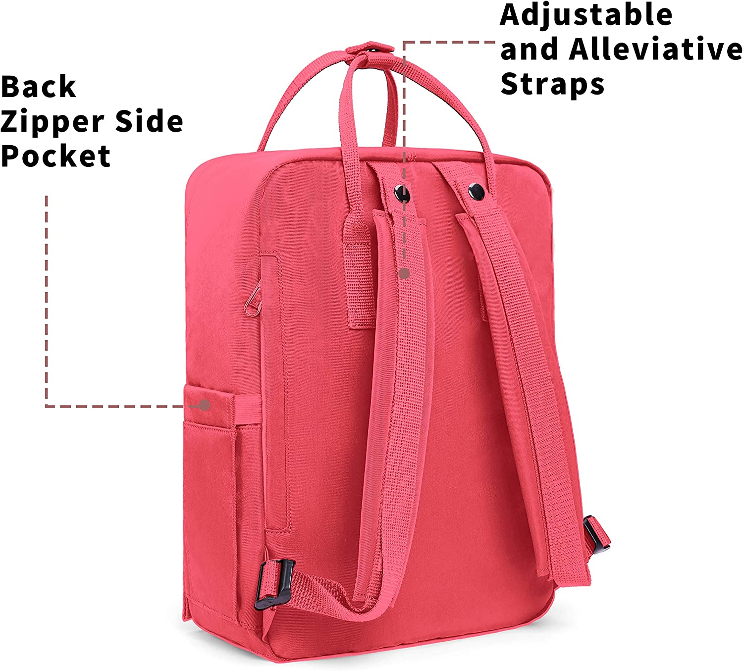 KALIDI Sac /à Dos Loisir Randonn/ée Voyages Ecole Backpack en Oxford Toile pour Ordinateur Portable Tablette Laptop MacBook 14 Pouces