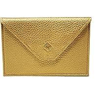 Frédéric Johns® – Porta papel de coche de piel – Formato sobre – Funda para tarjeta gris, permisos, tarjeta de identidad…