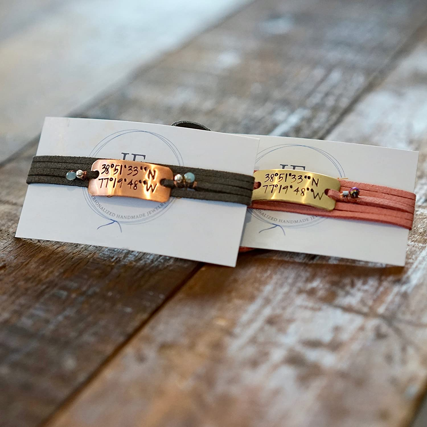 IF - Personalized Coordinate Bracelet Gift in Gold, Silver, or Copper, Location Bracelet, Coordinate Jewelry, Couples Bracelet, Couples Jewelry, Custom Bracelet, Custom Gift, Gifts for Her and Him