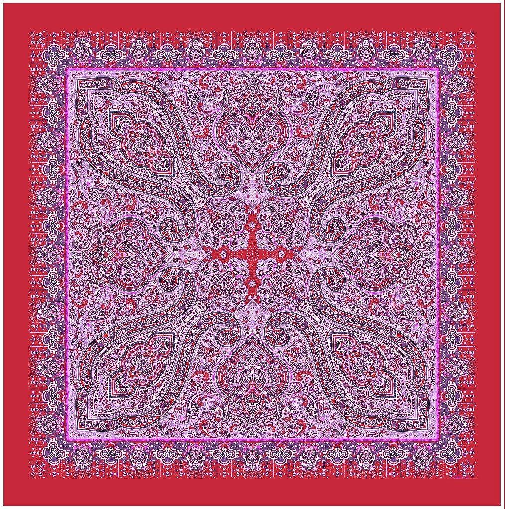 tessago Scialle, lana 100% Rosso fragola, cm 140x140 T54003tessago