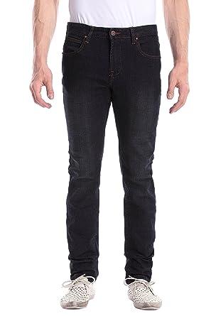 Dilanni Herren Jeans Stretch Slim Fit Dunkelblaue Skinny Jeanshose J003  Size 32