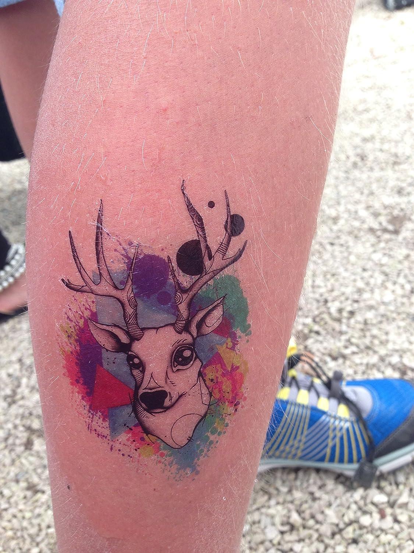 Estilo Boho pantera Tatuaje temporal tatuajes de flash colibrí ...