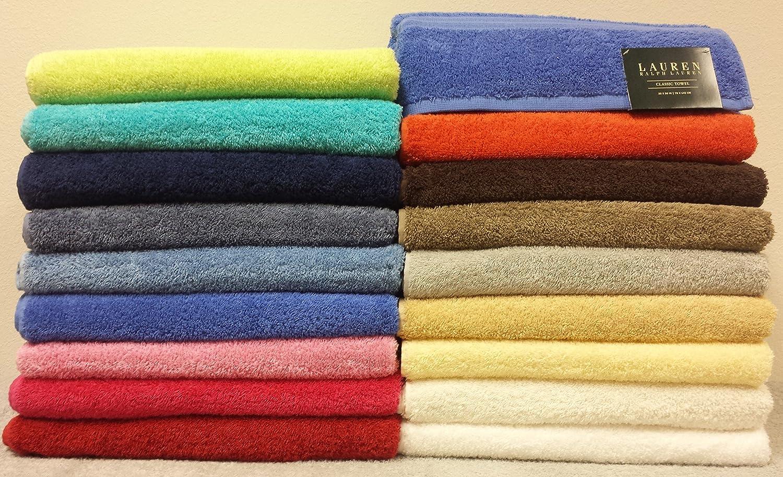 Ralph Lauren Classic 6 piezas Juego de toallas de baño - 100% algodón - Aqua Azul: Amazon.es: Hogar
