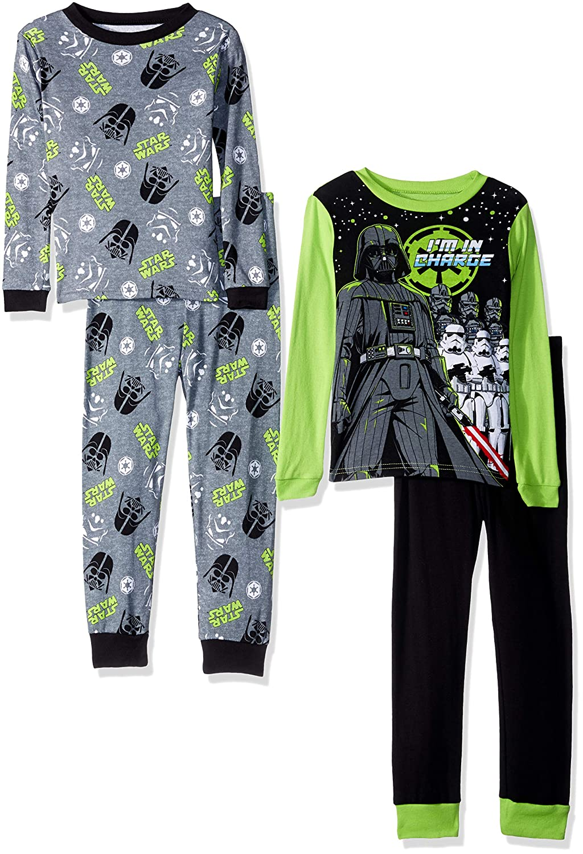 Star Wars Boys' Galactic 4 Piece Cotton Pajama Set