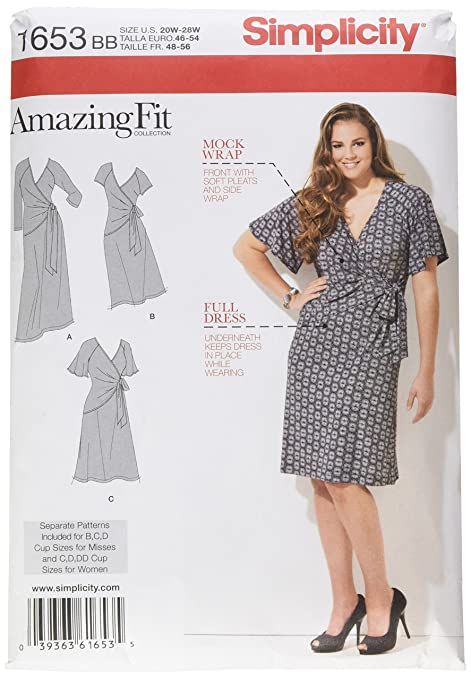 Simplicity 1653 Size BB Misses Amazing Fit Knit Dress Sewing Pattern ...