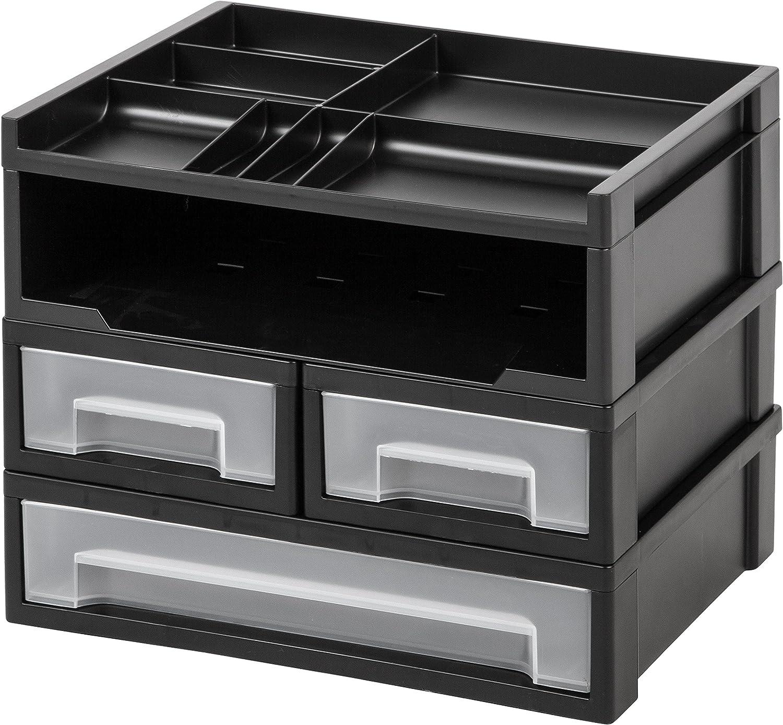 IRIS 5-Piece Desk Top Organizer, Black