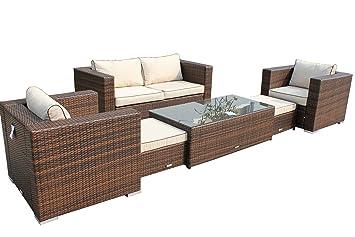 Rattan Garden Furniture Piece Ascot Sofa Set Inc Free Luxury