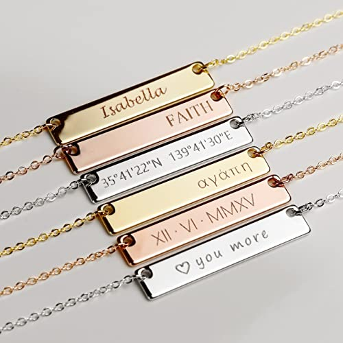 Amazon Custom Engraved Necklace For Mom Christmas Gift For