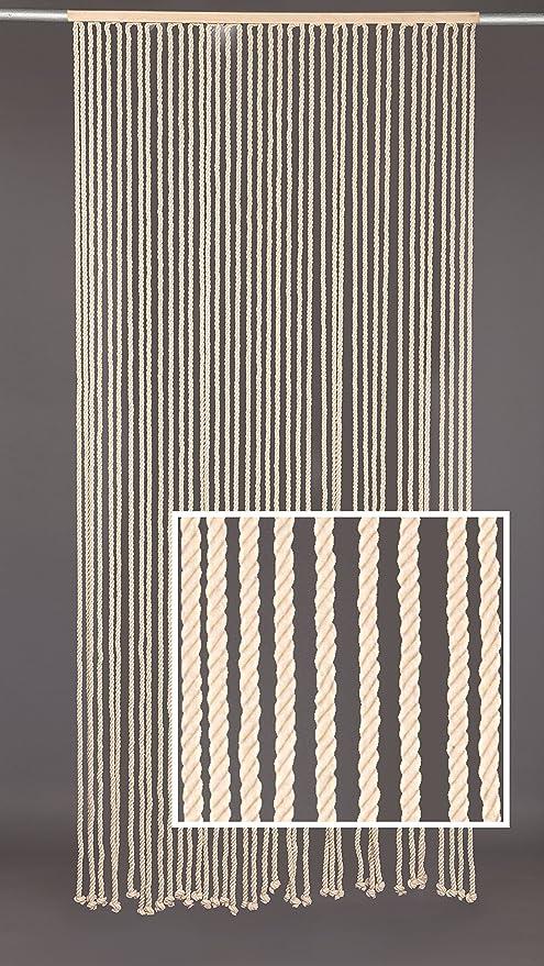 Disraeli, Cortina de Cuerda de algodón 120 x 240 Blanca: Amazon.es ...