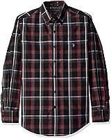 U.S. Polo Assn. Men's Long Sleeve Plaid Poplin Classic Fit Sport Shirt