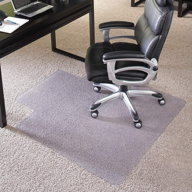 ES ROBBINS EVERLIFE 앵커 바 립 비닐 의자 매트 높은 더미 카펫 36 48 인치 클리어