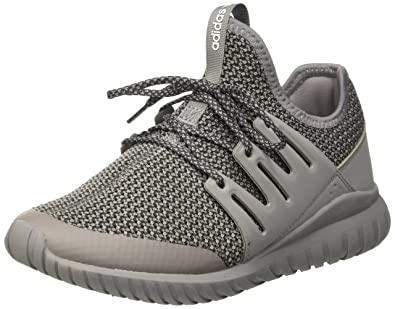 09be00fd387 adidas Originals Tubular Radial J Solid Grey Textile 3.5 M US Big Kid