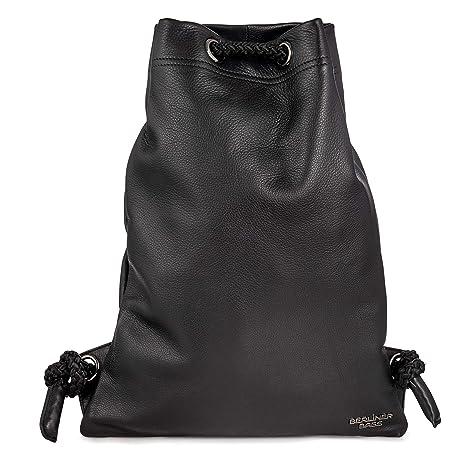 5a8e8a57048c0 Berliner Bags Luxus Gym Bag Turnbeutel aus Echtes Leder Beutel Rucksack  Sportbeutel Turntasche Wasserdicht Damen Herren