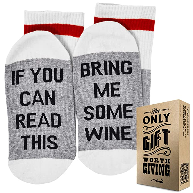Christmas Gifts For Coworkers Under 10.Wine Socks Gift Box If You Can Read This Bring Me Some Wine Best Christmas Gifts For Women And Stocking Stuffers Excellent Gifts For Women Under
