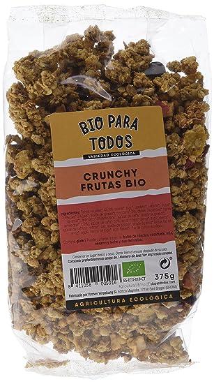 Bio para todos Crunchy Frutas Bio - 4 Paquetes de 375 gr - Total: 1500