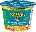 Annie's Gluten Free Macaroni and Cheese, Microwave Cups, Rice Pasta Cheddar Mac and Cheese, 2.01 oz Cup (Pack of 12)