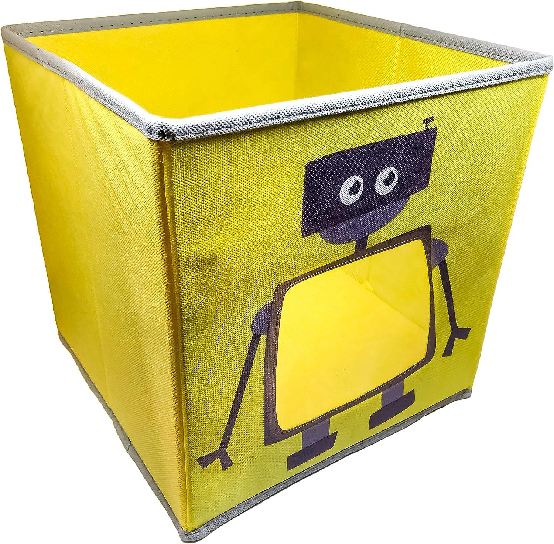 SystemBuild Ameriwood Home Flynn Wooden Storage Cabinet (White) (Children's Robot Bin; 1 Pack)