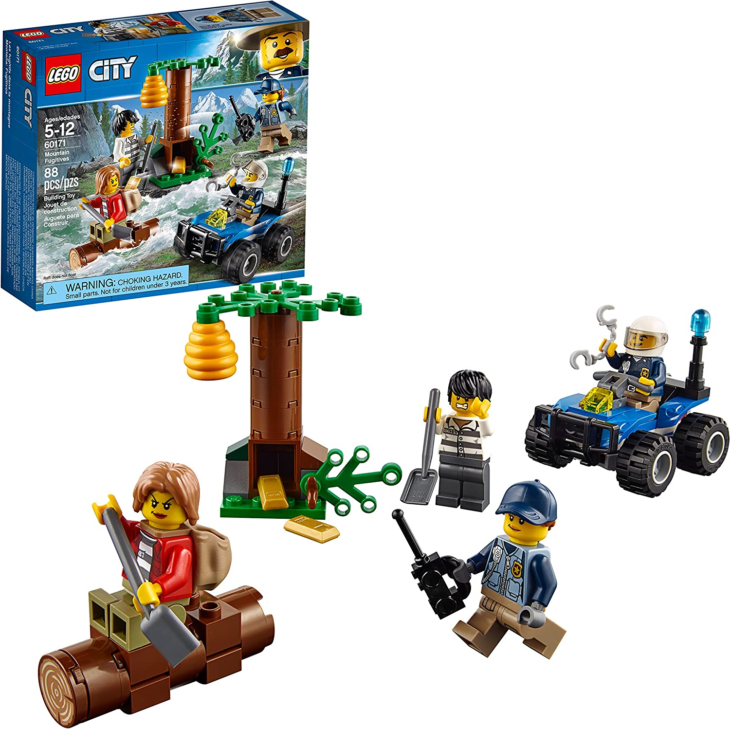 LEGO City Mountain Fugitives 60171 Building Kit (88 Piece)