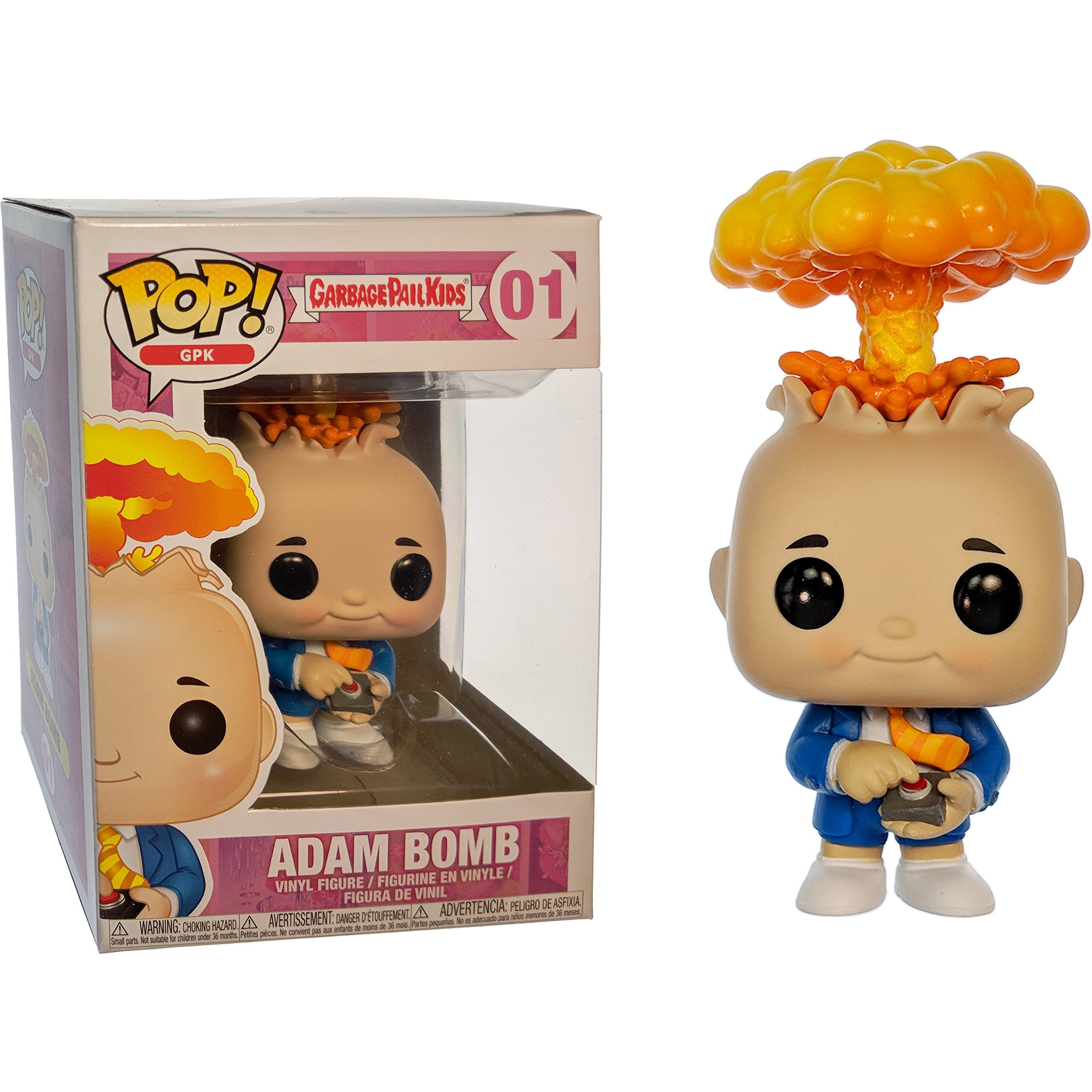 Funko Adam Bomb POP! GPK x Garbage Pail Kids Vinyl Figure + 1 Video Games Themed Trading Card Bundle [#001 / 26003]