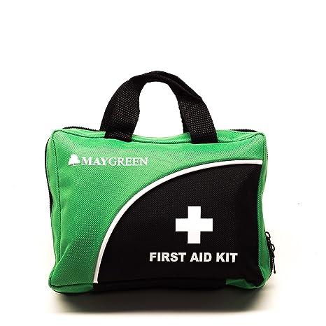 Botiquín de primeros auxilios de MayGreen: bolsa de botiquín completo de primeros auxilios de 105 piezas para el hogar, el trabajo, el automóvil o los ...