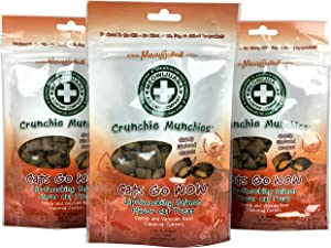 Meowijuana | Crunchie Munchie | Salmon Flavor | Organic Catnip Center Grown in The USA | Healthy Cat | High Potency Cat Treats | Feline and Cat Lovers Approved | 3 Ounce Bag | 3 Pack
