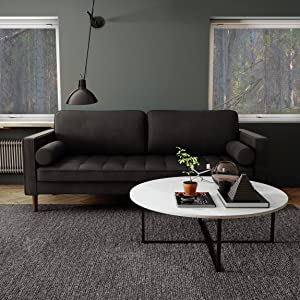 Nouhaus Module, Sleeper Sofa Bed Couch. 7ft Luxury Convertible Sofa Futon Bed with No Roll Together Latex. Grey Woven Pull Out Couch Bed for Bedroom Couch, Small Apartment Furniture Sofas or RV Couch