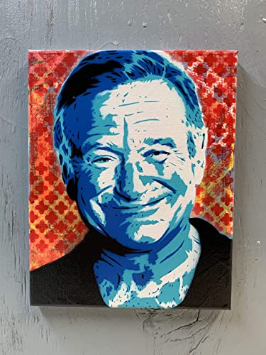 Robin Williams Painting on Stretched Canvas 8×10 Inches
