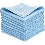 Zflow Microfiber Dish Cleaning Cloth - Dish Rags Kitchen Cleaning Cloths with Poly Scour Mesh Scrubbing Side - 10 Pack…