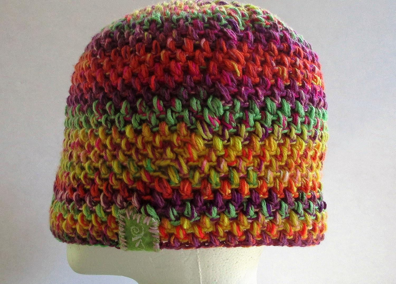 handmade crochet puff stitch beanie