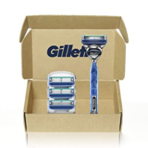 Gillette5 Men's Razor Handle by Gillette + 4 Cartridges
