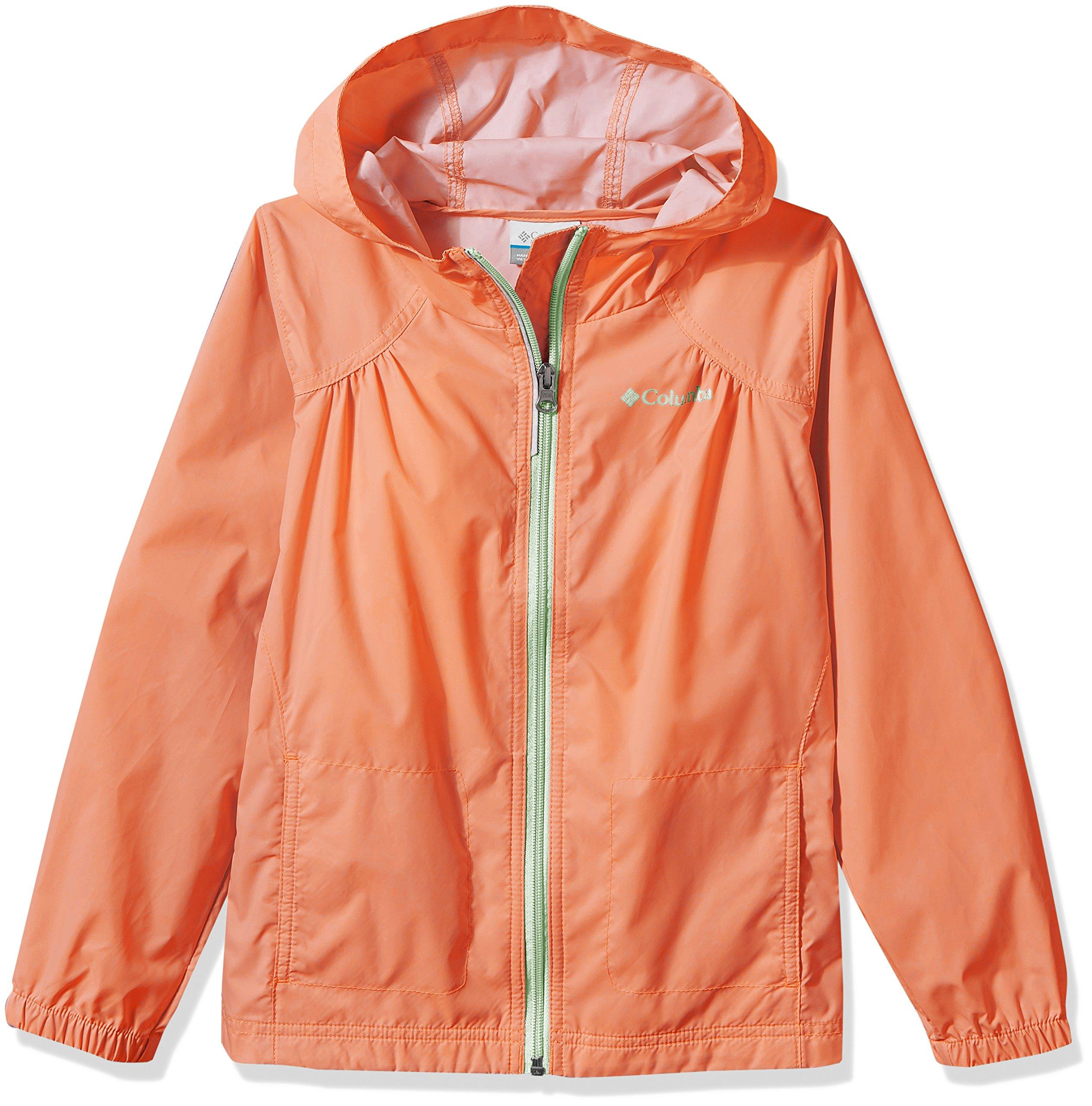 Columbia Big Girl's Switchback Rain Jacket, Bright Peach, L