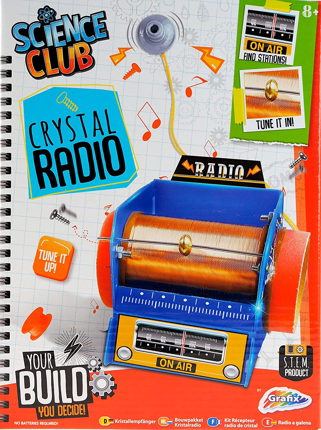 Science Club Crystal Radio Office Products Basic Electronics Toys For Kids Snap Circuits Jr Sc 100
