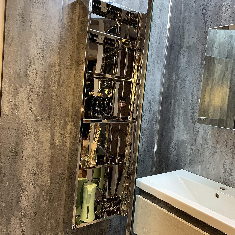 Nova Armoire murale de salle de bain avec miroir en acier inoxydable 120 cm