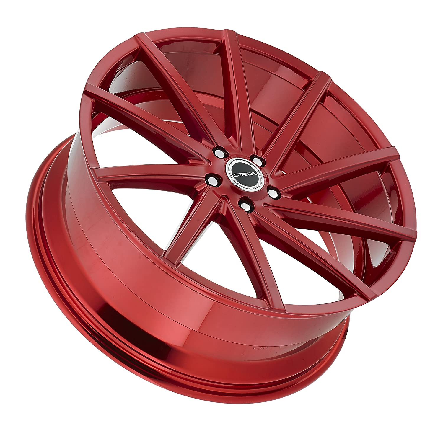 20 Inch Strada Sega Candy Apple Red Wheels Rims Only Chevy Truck Color Set Of 4 Fits Audi Mercedes Bmw Infiniti Dodge Cadillac Ford Lexus Tesla Nissan