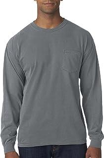 61608a814 Comfort Colors Long-Sleeve Pocket T-Shirt>M LAGOON BLUE C4410 ...