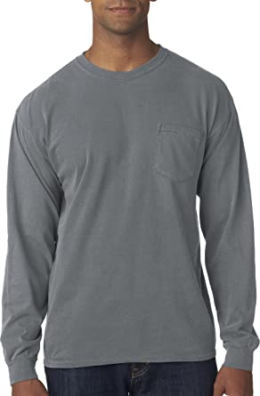 Amazon.com: Comfort Colors mens Long-Sleeve Pocket T-Shirt (C4410 ...