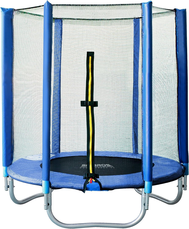 SixBros. SixJump 1,40 M Trampolín Cama elástica de jardín Trampolín Azul TB140/1535