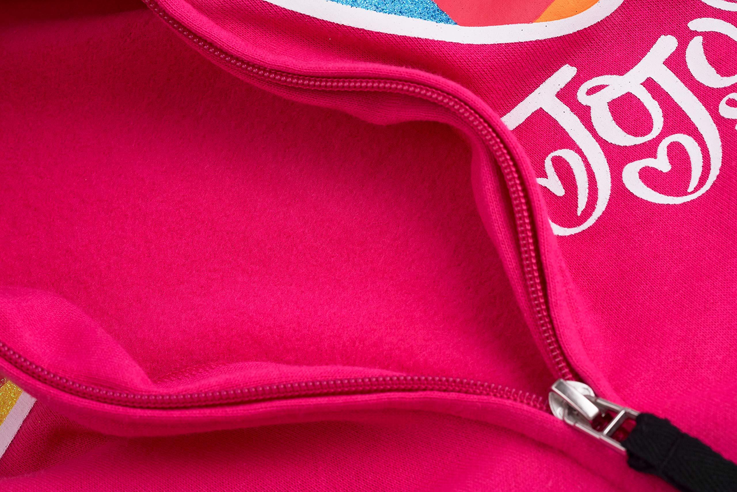 JoJo Siwa Girls' Little Big Bow Zip Up Athletic Hoodie, Red/Hot Pink, S-7 by JoJo Siwa (Image #2)