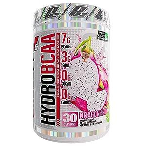 ProSupps HydroBCAA BCAA/EAA Full Spectrum Matrix, 7g BCAAs, 3g EAAs, 0g Sugar, 0g Carbs, 30 Servings, (Dragonfruit Flavor)