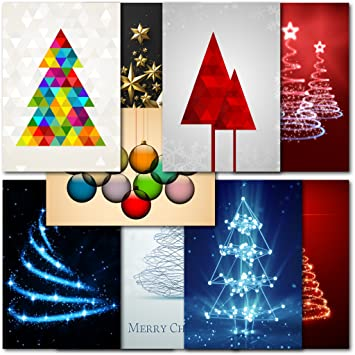 pack of 30 mixed box abstract premium christmas cards amazon co uk