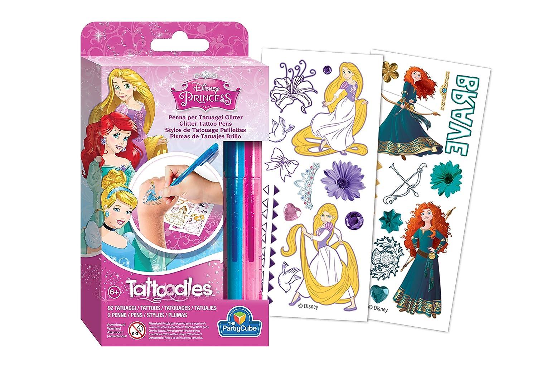 Siad – Juego 92 Tatuajes Princesas Disney para colorear (diseños ...